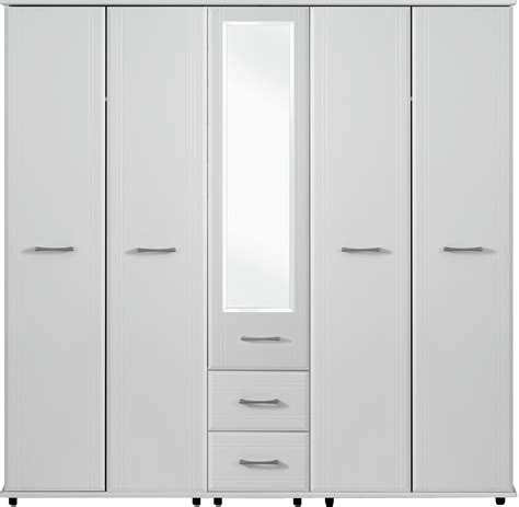 Five Wardrobe by Dorchester 5 Door Wardrobe 1 Mirror 2 Drawers Crendon