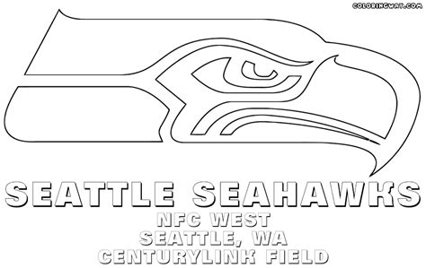 seahawks coloring pages seattle seahawk logo coloring pages