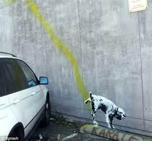 banksy in los angeles? graffiti artist caught on camera in