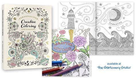 on trend personalized adult coloring books