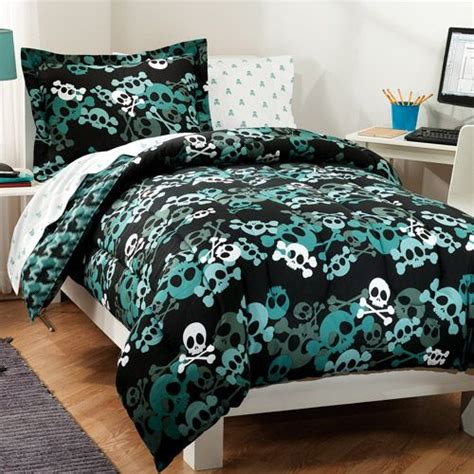 skull bed sets queen dream factory skulls bed in a bag bedding walmart com
