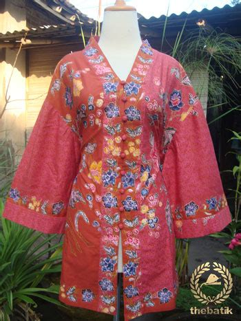 Blouse Batik Cap Encim Pastel jahit baju batik wanita blouse batik encim thebatik co id