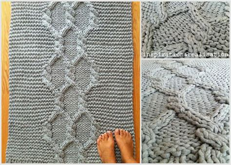 Diy Knit Rug by 1000 Ideas About Knitted Rug On Knitted