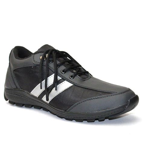 sports leather shoes guava black leather sport shoes price in india buy guava