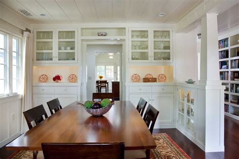 Wall To Wall Dining Room Cabinets Marvelous Glass Curio Cabinets In Dining Room Traditional
