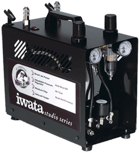 iwata studio series power jet pro compressor c iw powerp air brush from chronos ebay