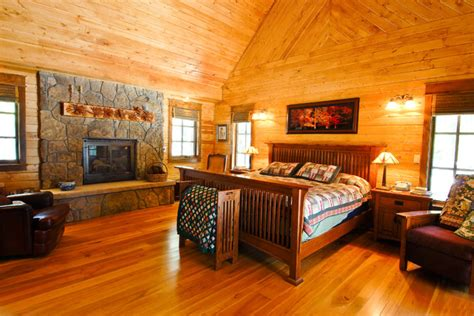 Log Furniture Denver by Creek Hybrid Log Home Rustic Bedroom