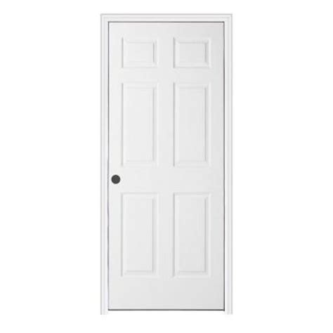Interior Split Door Woodgrain 6 Panel Primed Molded Split Jamb Prehung Interior Door With Trim