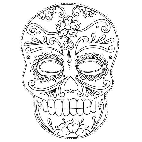 skull face coloring page caveiras mexicanas para colorir imagens png
