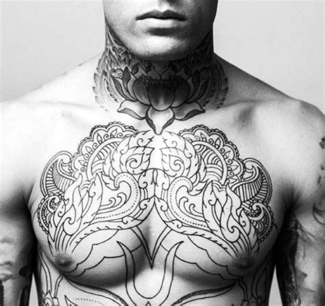 chest piece tattoo ideas for men 25 best chest tattoos for