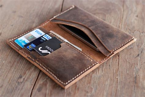 Handmade Leather Wallet - the envelope wallet leather wallet joojoobs by joojoobs