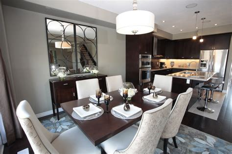 Toronto Restaurants With Dining Rooms by Model Home Kitchen And Dining Room Modern Dining Room