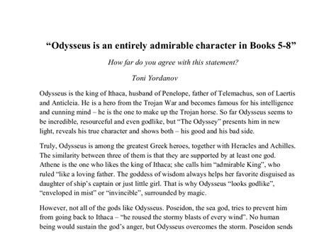 Odysseus Is A Essay by Odyssey Essay