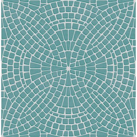 tile wallpaper decor ceramica mosaic tile effect washable wallpaper teal white decor from i