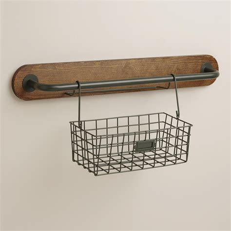 drahtkorb wand wire modular kitchen wall storage basket caddy world market