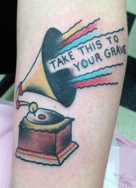 phonograph tattoo phonograph by tattoosbydanh on deviantart