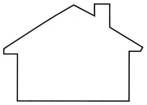 house shape house shapes clipart clipartix
