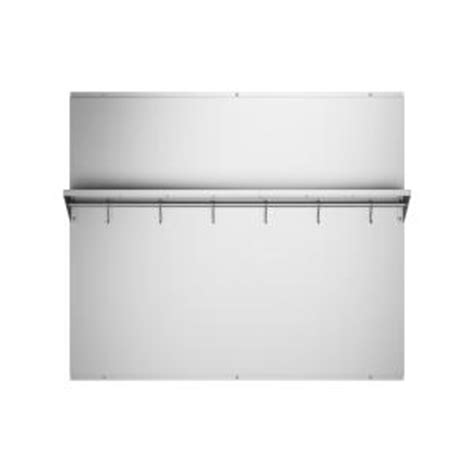 ancona 36 in x 30 75 in stainless steel backsplash with