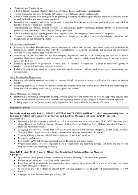 Building Operations Manager Resume