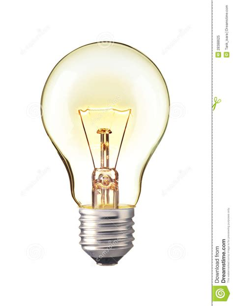 trun on tungsten light bulb realistic photo image royalty