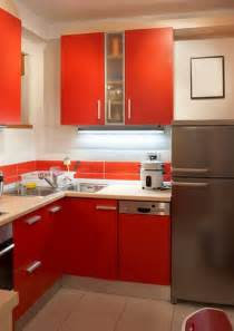 Small Kitchens Ideas by Bold Color Small Modern Kitchens Ideas Modern Kitchens