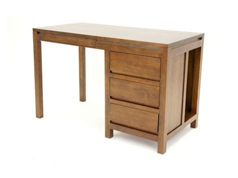 bureau m騁al et bois bureau en bois massif oscar avec compartiement 4 tiroirs