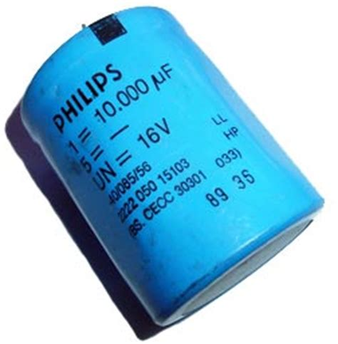 philips capacitors 2222 10000uf 16v radial electrolytic capacitor philips 2222 050 15103 west florida components
