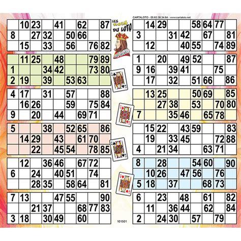 Grille De Bingo by Les Rois Du Loto 12 Grilles