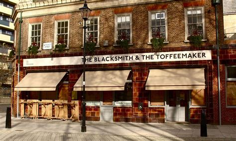 pub awnings the blacksmith toffeemaker the original victorian