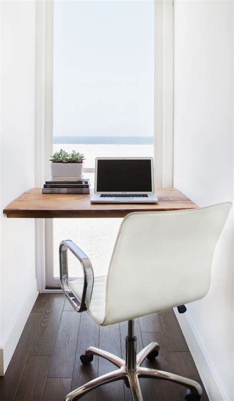 minimal work desk small home office idea make use of a small space and