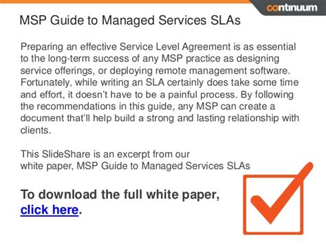 Agreement Letter Adalah Service Level Agreements 6 Sla Essentials For Msp Success