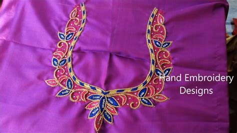 Hand embroidery designs, basic embroidery stitches   easy mirror work, easy maggam work,, My Crafts
