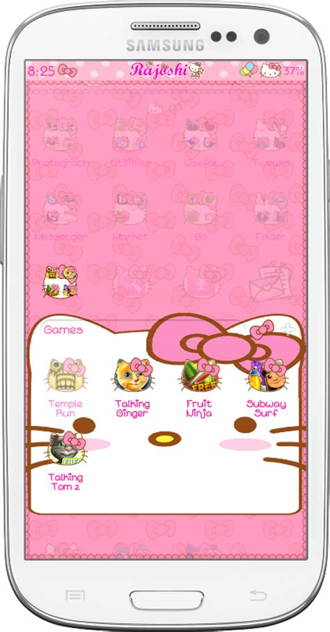 download go launcher theme hello kitty for android by download hello kitty loves bow go launcher theme for
