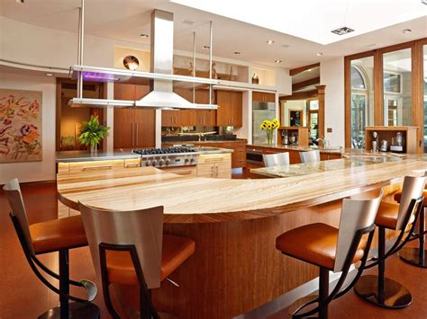 Round Kitchen Island With Seating Larger Kitchen Islands Pictures Ideas Amp Tips From Hgtv