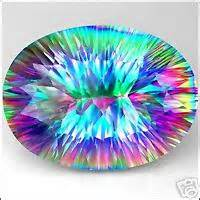 And red to the maximum colorless topaz are cut in round brilliant