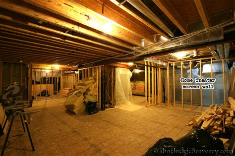 basement is a home to wide cinemascope home kal s basement brewery bar home theatre build 2 0