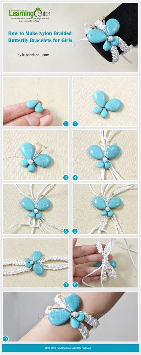Butterfly Braided Bracelet how to make braided butterfly bracelets for