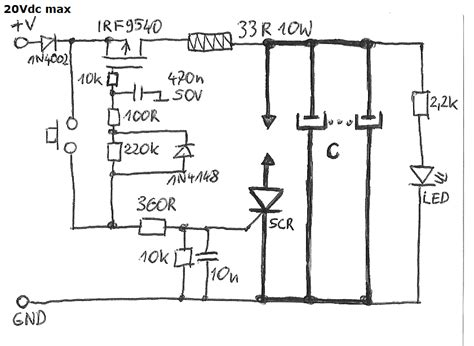 capacitor discharge unit design simple capacitor spot welder