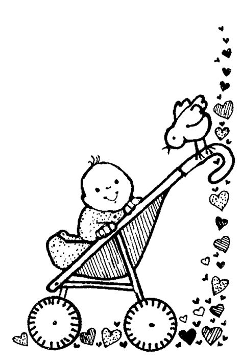 baby carriage pictures clipartsco coloring page baby