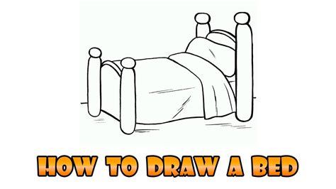 draw bed easy step  step drawing lesson  kids youtube