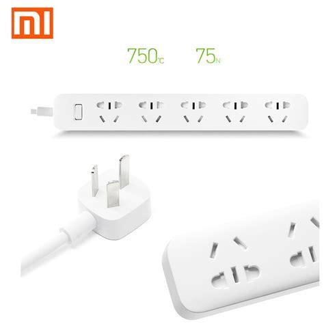 Exclusive Xiaomi Mi Smart Power 6 Socket 3 Usb Port White xiaomi mi 5 power sockets smart power intelligent electrical power adapter