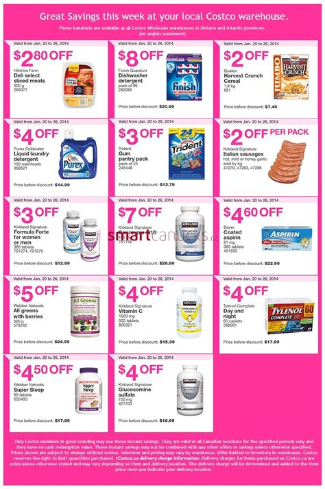 Costco Canada Flyers/Coupons for Jan 20 ? 26 (Ontario & Atlantic)   Canadian Freebies, Coupons