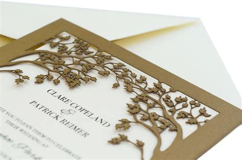 Laser cut wedding invitations tree : Love tree