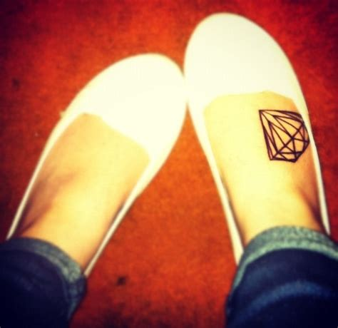 tattoo diamond foot diamond tattoos inspiring tattoos