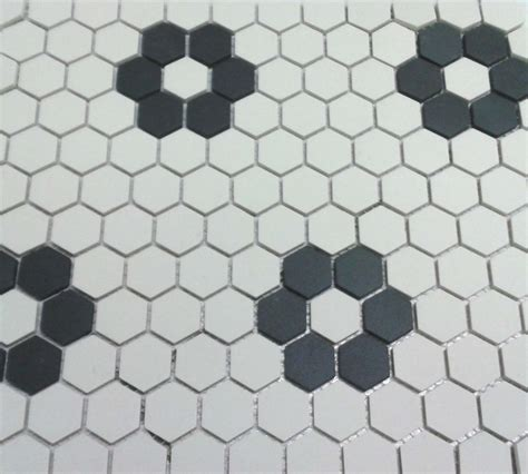 mosaic hexagon pattern unglazed flower hexagon mosaic with four roses bathrooms