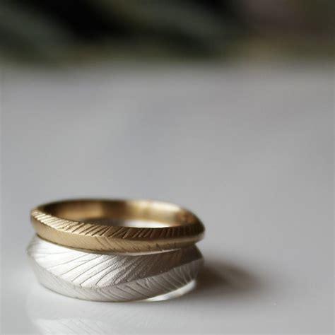 gold wedding ring rustic wedding ring wedding bands