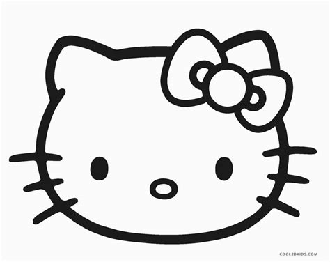 kitten face coloring page free printable hello kitty coloring pages for pages