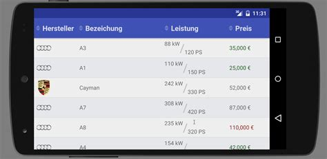 table layout exles in android github ischwarz23 sortabletableview an android library