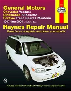 car repair manual download 1992 oldsmobile silhouette engine control haynes repair manual for general motors 1997 thru 2005