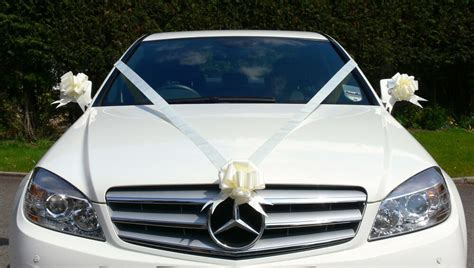 IVORY Wedding Car Decoration Kit Large Bows & 7 Metres of